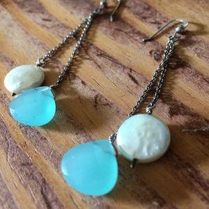 Pearl & Gem Earrings